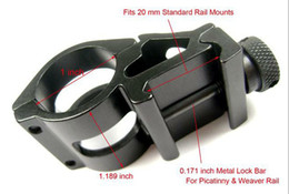 Wholesale Weaver Picatinny Offset - Tactical Offset Flashlight Mount 25.4mm Diameter 1inch 25mm Laserf for rifle scope Mount Weaver 20mm Picatinny rail