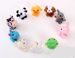 Wholesale Wholesale Free Stuff - free shipping 10pcs lot Animal Finger Puppet,Finger toy, plush puppet toy