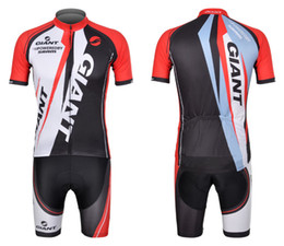 New Cycling GIANT confortevole rosso e nero Outdoor Bike Jersey + pantaloncini bicicletta S - 3XL
