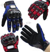 мотоциклетные байкерские перчатки оптовых-Про-байкер полный палец рыцарь перчатки мотоцикл / мотоцикл перчатки мотогонки перчатки 3 цвета 4 размер