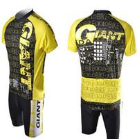 sarı siyah bisiklet formaları toptan satış-Yeni Bisiklet DEV Rahat Sarı ve Siyah Açık Bisiklet Jersey + şort Bisiklet GY13 S-3XL