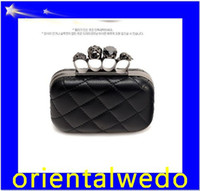 Wholesale Envelope Clutch Skull - HOT Free shipping fashion Skull bag with , rhinestone clutch bag, PU leather purse,skeleton bag top sale free shipping