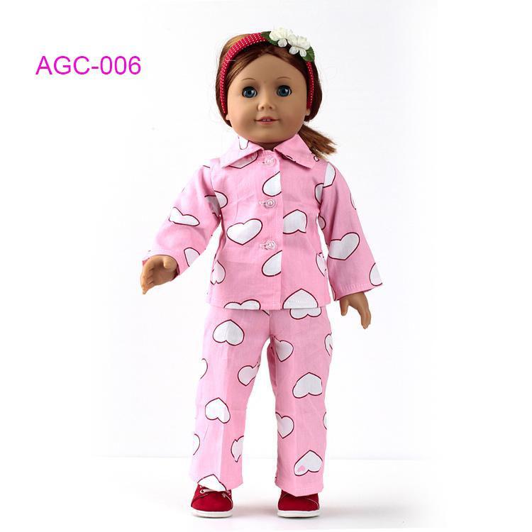Großhandel Puppenkleidung Pyjama Für 18 American Girl Puppe,Mädchen ...