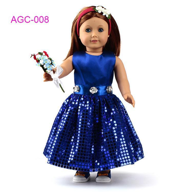 Großhandel Puppenkleidung Kleid Für 18 American Girl Puppe , Mädchen ...