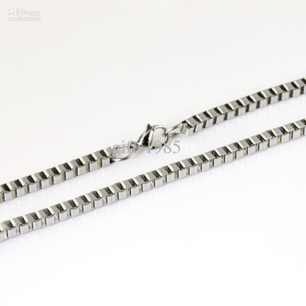 Todo o colar de aço inoxidável polido da caixa de 4MM