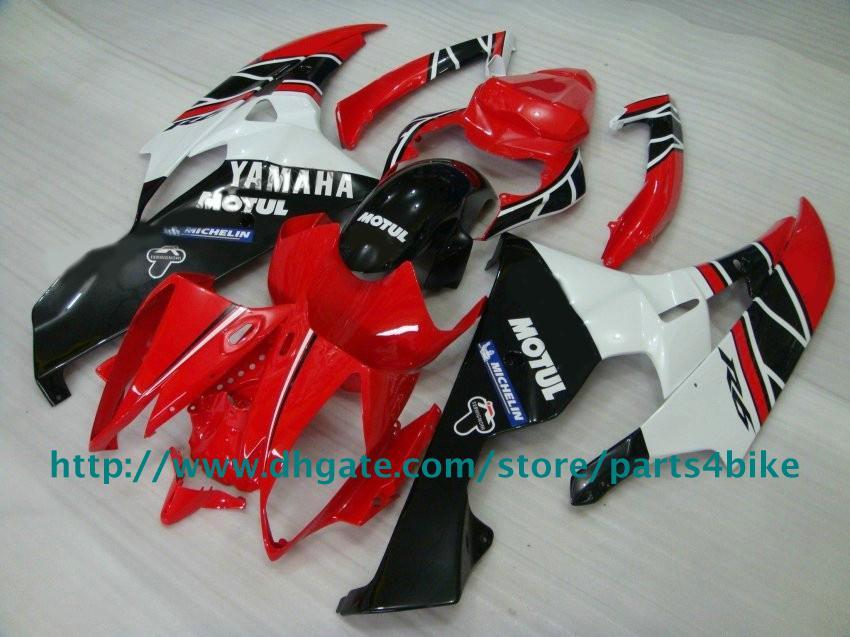 Kit de carenado de motocicleta para YAMAHA YZF R6 06 07 YZF-R6 06 07 YZFR6 2006 carenados de MOTUL rojo blanco RX4z
