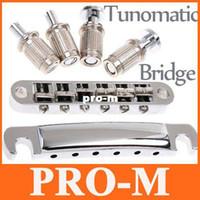 Wholesale Guitar Tunomatic Bridge - Tunomatic Guitar Bridge Stopbar Set for LP Guitar,I80,Free shipping