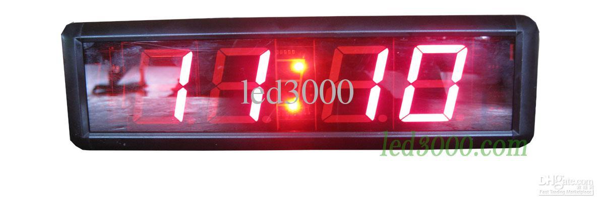 Minutes 1.8inch couleur rouge minutes et secondes compte à rebours LED horloge livraison gratuite HIT4-1.8R