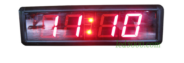 1.8inch red color minutes and seconds countdown LED clock free shipping(HIT4-1.8R)