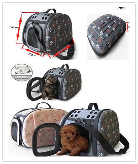 Livraison gratuite chien de compagnie chat transporté sac cage sac de voyage pliable EVA matériel