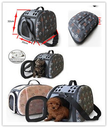 Wholesale Cage Carrier - Free shipping pet dog cat carried bag cage foldable travel bag EVA material