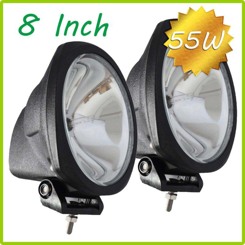 "NEW 8"" 55W 75W HID Xenon Driving Light OffRoad SUV ATV 4WD 4x4 Spot Flood Beam 3200lm 12V/24V IP67 Jeep Truck Fog Headlamp Super Bright"