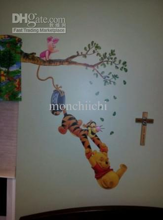 Easy Wall Decal Giant Winnie The Pooh Amp Tigger Peel