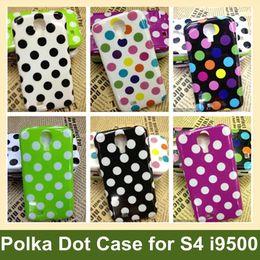 Wholesale Polka Galaxy S4 - Wholesale Fashion Polka Dot Case for i9500 Soft TPU Case for Samsung Galaxy S4 i9500 10pcs lot