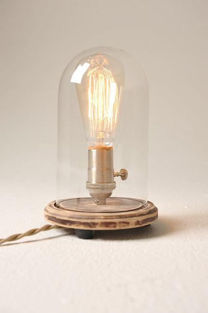 Discount Vintage Bell Jar Table Lamp, Rustic Industrial Lamp, Edison Lamp  Bulb, Steampunk, Antique From China | Dhgate.Com