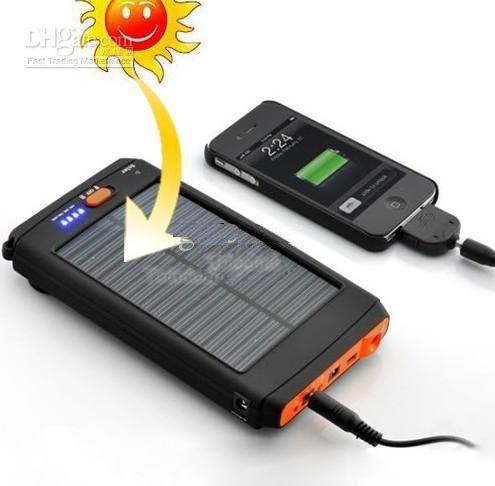 2019 Dhl 12000mah Universal Solar Charger Ac Input Battery