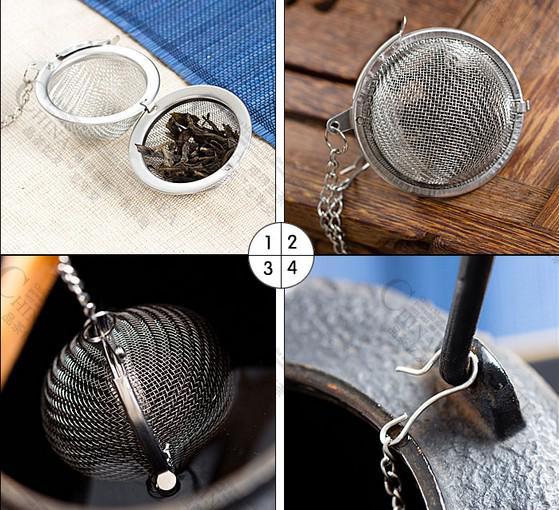 Esfera de aço inoxidável da esfera de Infuser do potenciômetro do chá de Infuser do chá da bola do filtro do chá