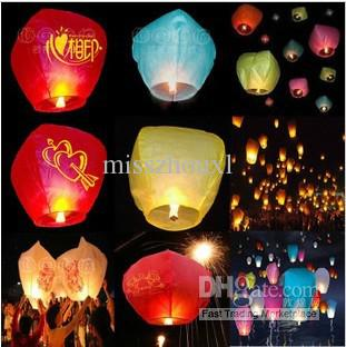 Wholesale Wedding Party Sky Lanterns Flying Paper BIRTHDAY