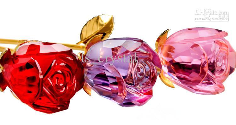 Nieuwe Prachtige Crystal Rose Flower 12