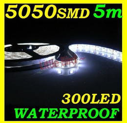 high bright led strip 2020 - Cool white led Strip Light 5M 5050 SMD super Bright high power 72W Waterproof Flexible 300 LED blue cheap high bright le