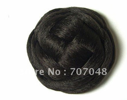 braided buns black hair Canada - synthetic hair bun very fashion large hair buns for wedding~hair hair buns~
