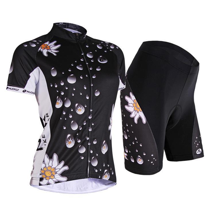 Novas mulheres ao ar livre ciclismo NUCKILY volta Jersey + shorts bicicleta S - XXL