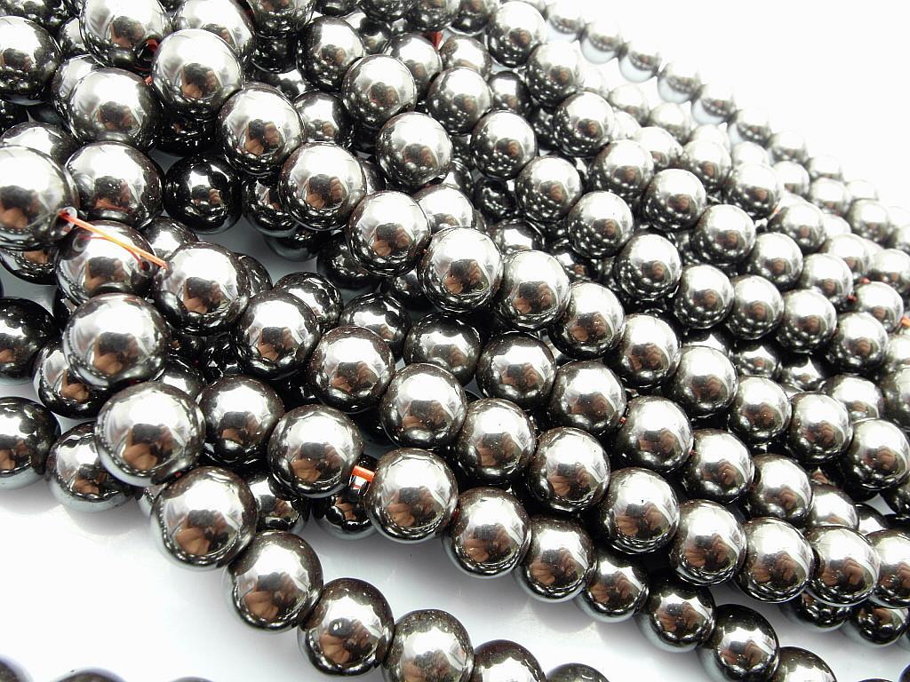 Moda perline ematite sfera 2 buche nero 8mm Vendita calda Uso gioielli / CPAM GRATIS