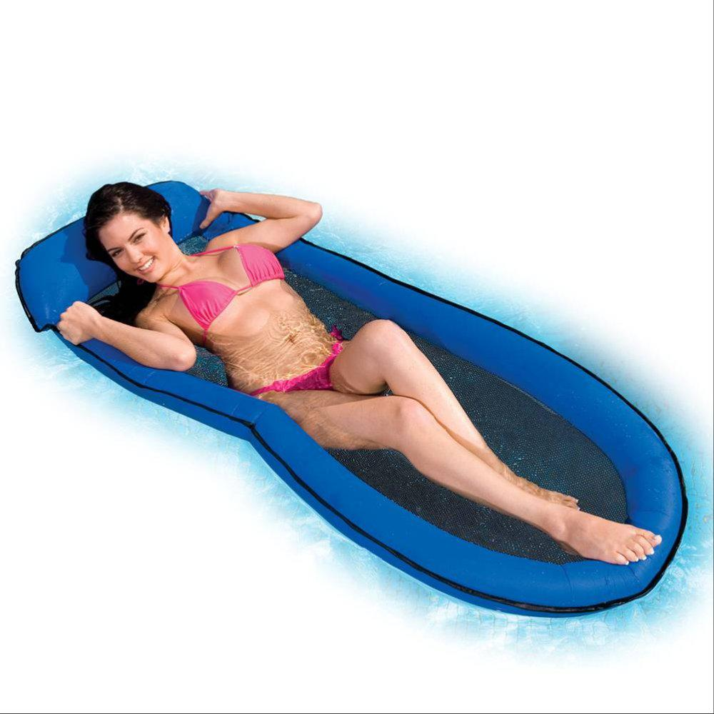 Online Cheap Mesh Lounge Swimming Pool Floating Inflatable Float Chair Blue  By Starshow | Dhgate.Com