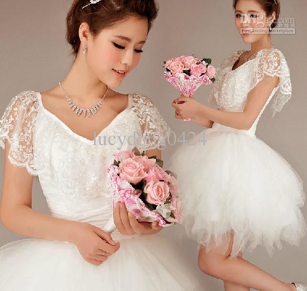 Elegante A-Line Lace V-pescoço fora do ombro tule dama de honra vestidos vestidos de festa de casamento