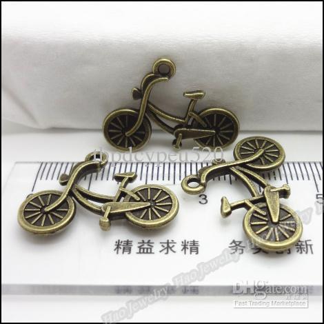 Encantos do vintage Bicicleta pingente antigo bronze cabem pulseiras Colar DIY resultados da jóia