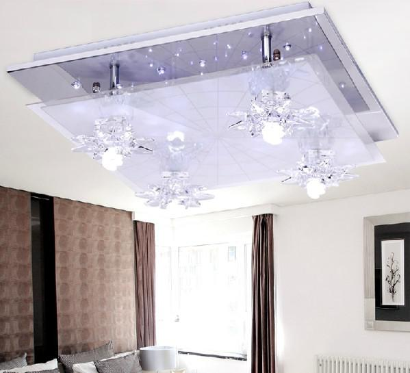 2017 Modern Fashion Simple Romantic Glass Acrylic Led Ceiling Lamp Chandelier Living Room Bedroom Lights From Crystalk9 223 81 Dhgate Com