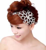 Wholesale Headband Chains - Armlet bridal shoulder chain wedding headwear arm ornaments princess pearl clavicle chain #5105