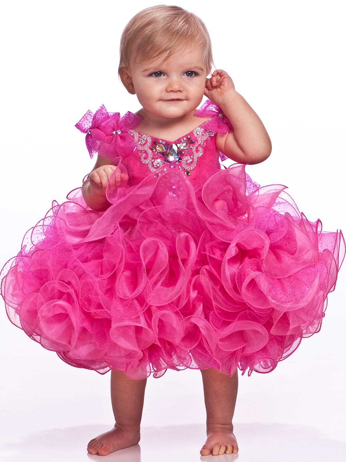 Rosy Infant Pageant Dresses Organza Spaghetti Straps Beaded Sequin ...