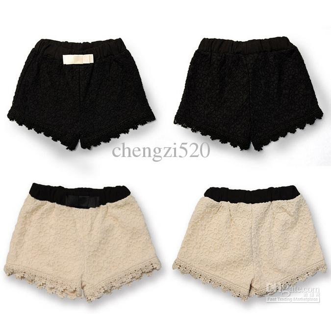 2015 Girls Shorts Retro Fashion Trend Lace Shorts Girls Short Pants Children's Clothing
