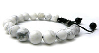 Wholesale White Shamballa Men - Fashion Shamballa Jewelry Rope Handmade High Quality White Howlite 10mm Beaded Shamballa Bracelet for Men and Women The Best Gifts 12pcs Lot