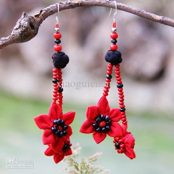2018 National Trend Accessories Unique Handmade Fabric Earrings ...