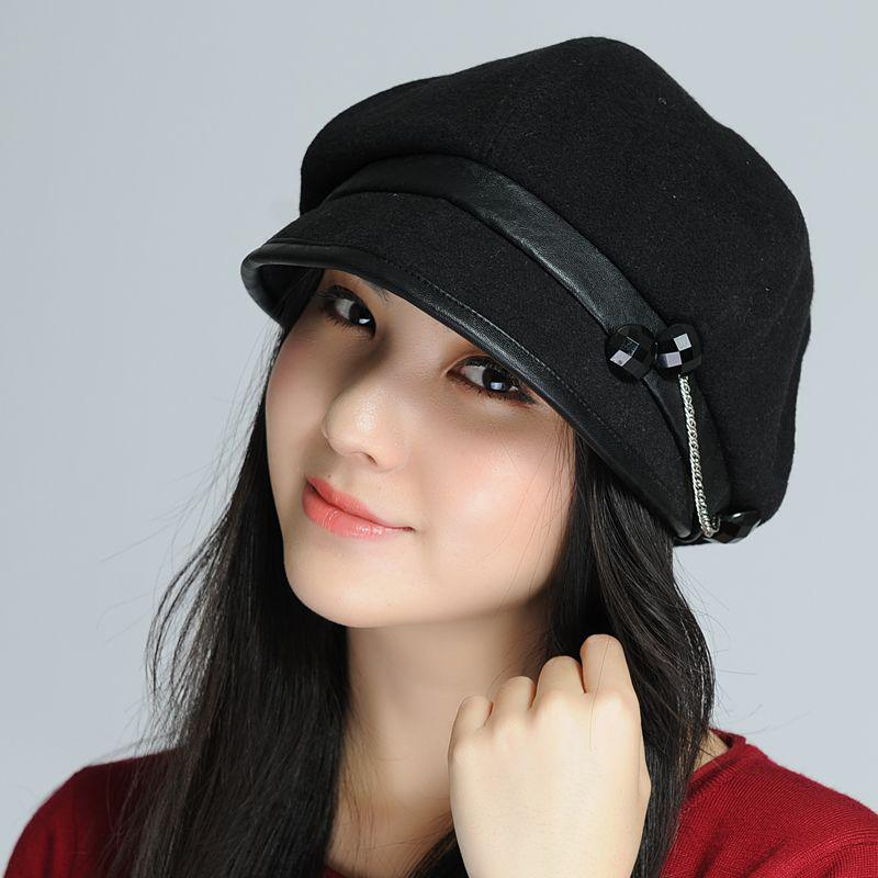 2019 Cuff Links Beret Winter Hat Women s Hat Autumn And Winter Millinery  Quinquagenarian Winter Hat Fashion From Xiaoguichen 469de6d1742c