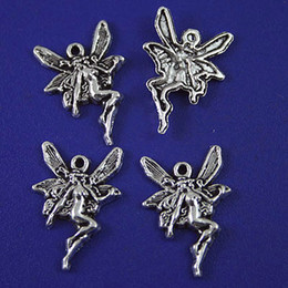Wholesale Metal Fairy Charms - 40Pcs tibetan silver Material:Zinc Alloy Metal(lead free) SIZE(Approx):21.4x14.7mm fairy charms H1078