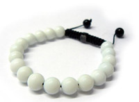 Fashion Jewelry Rope Handmade 10MM White Stone Bead Bracelet...