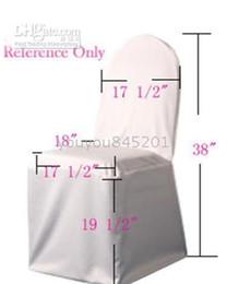 $enCountryForm.capitalKeyWord NZ - Customer Sample Order Link: 1PCS White 100% Polyester Fabric Wedding Chair Cover Sample Order For Wedding Banquet Use