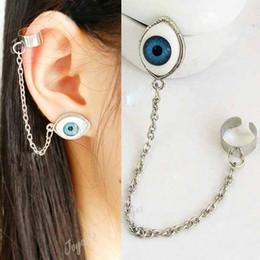 Wholesale China Sale Beauty - 2013 Hot sale Fashion women Rock Punk earring beauty Eyes Earrings Ear Cuff Chain #8048