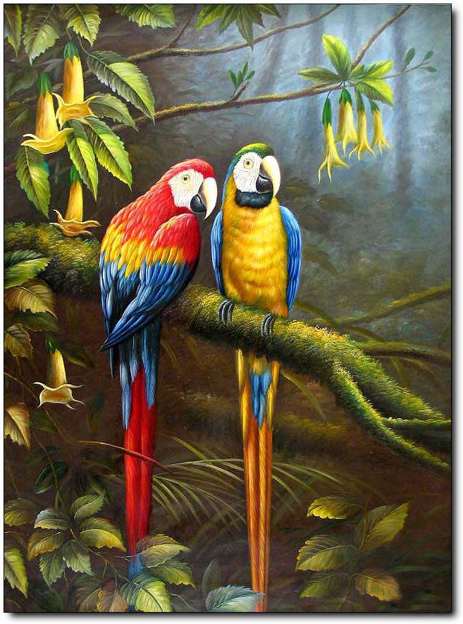 2018 High Quality Hand Painted Animal Oil Painting Modern