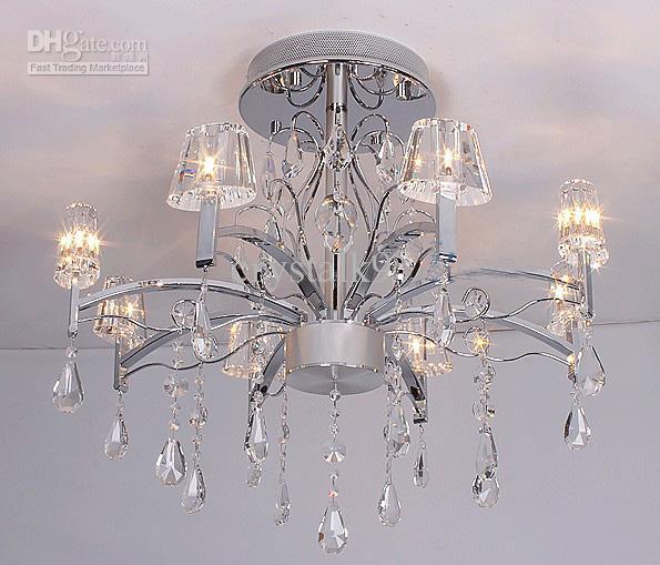 Moderne Italiaanse mode-stijl K9 Crystal Plafondlamp Kroonluchter Eetkamer Lichtdia 76cm