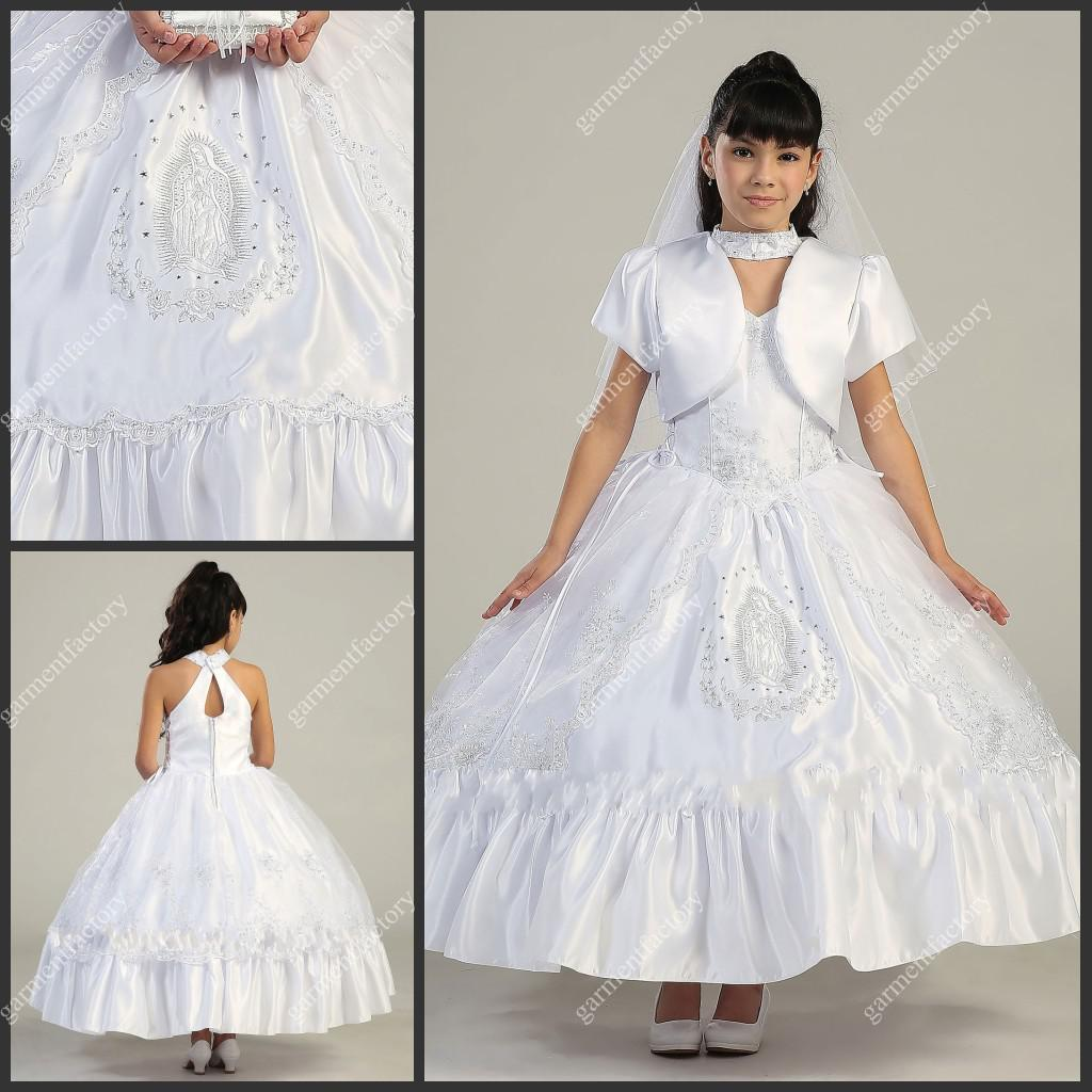 Beautiful white flower girls dresses special neckline tea length beautiful white flower girls dresses special neckline tea length little girls wedding party dresses 2018 from garmentfactory 15277 dhgate mobile ombrellifo Choice Image