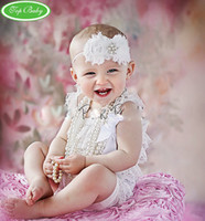 12pcs Toddler Baby Girl Lace Posh Petti Ruffle Rompers Infan...