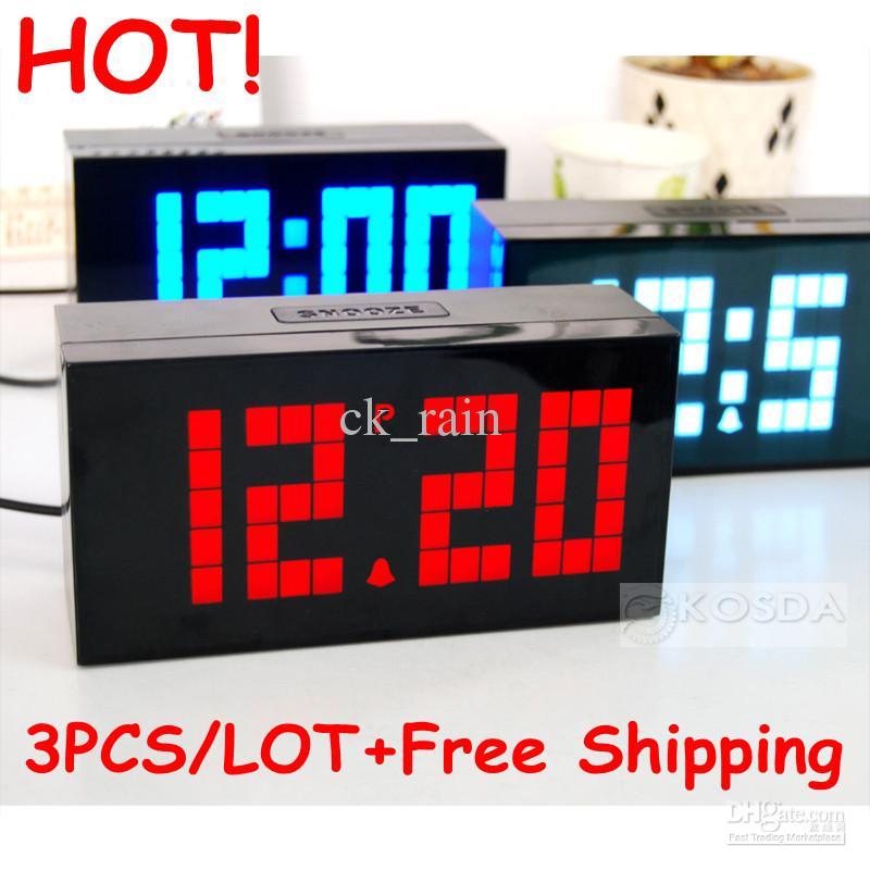 2018 Hotled Clock Display Large Jumbo Wall Alarm Digital World