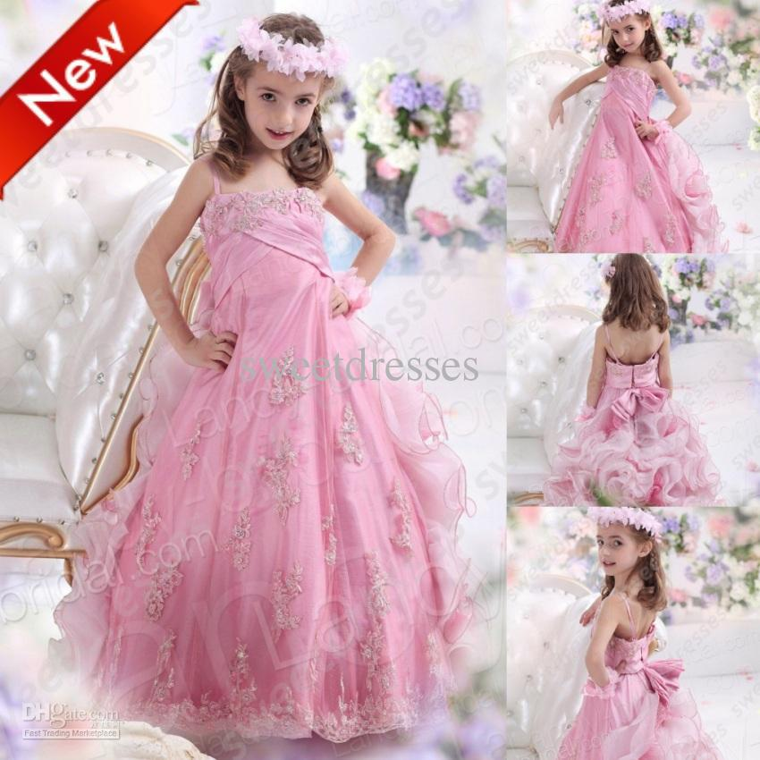 2013 Cute Little Girls Pageant Dresses Princess Flower Beaded ...