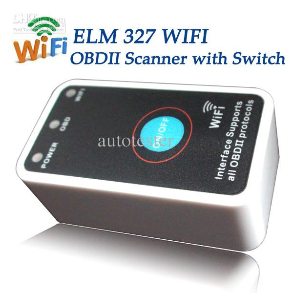 super mini elm327 wifi scanner with power switch work with iphone obd ii obd2 elm 327 code. Black Bedroom Furniture Sets. Home Design Ideas