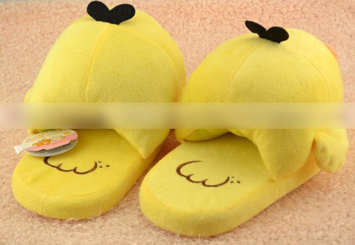 7f862d9b50fc SAN-X Rilakkuma Relax Bear Kiiroitori Chick Plush Doll Slippers Home Shoes