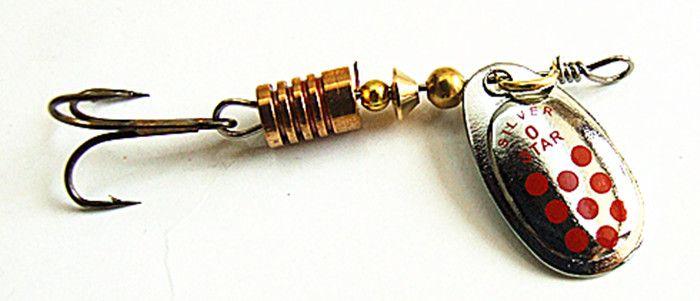 Spinner Bait Fishing Lure Spoon Lure Fishing Tackle 3-4g Metal Copper Baits di alta qualità